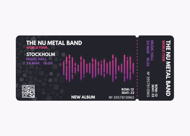 music concert ticket - tickets and vouchers templates stock illustrations
