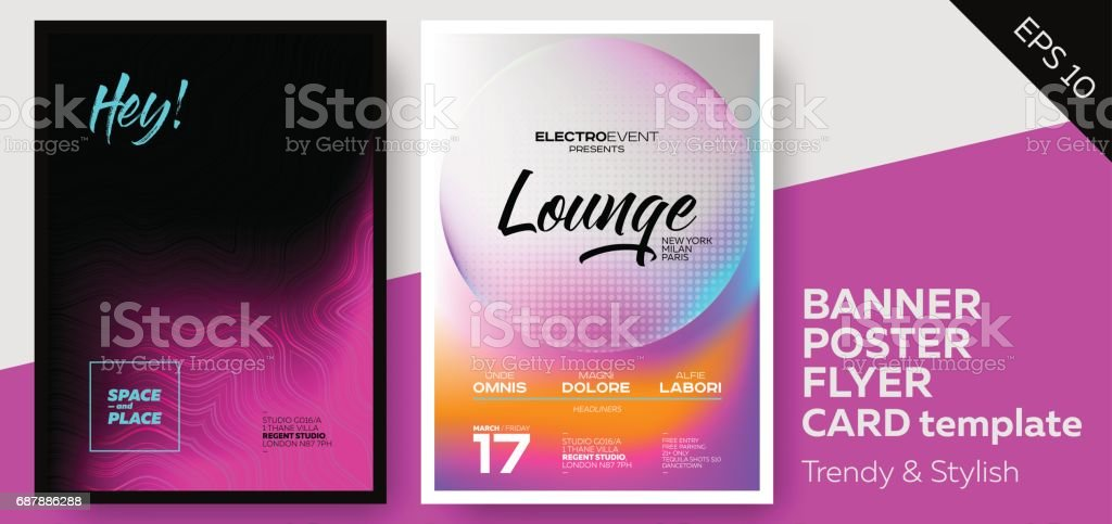 Music Covers for Summer Electronic Fest or Club Party Flyer. vector art illustration