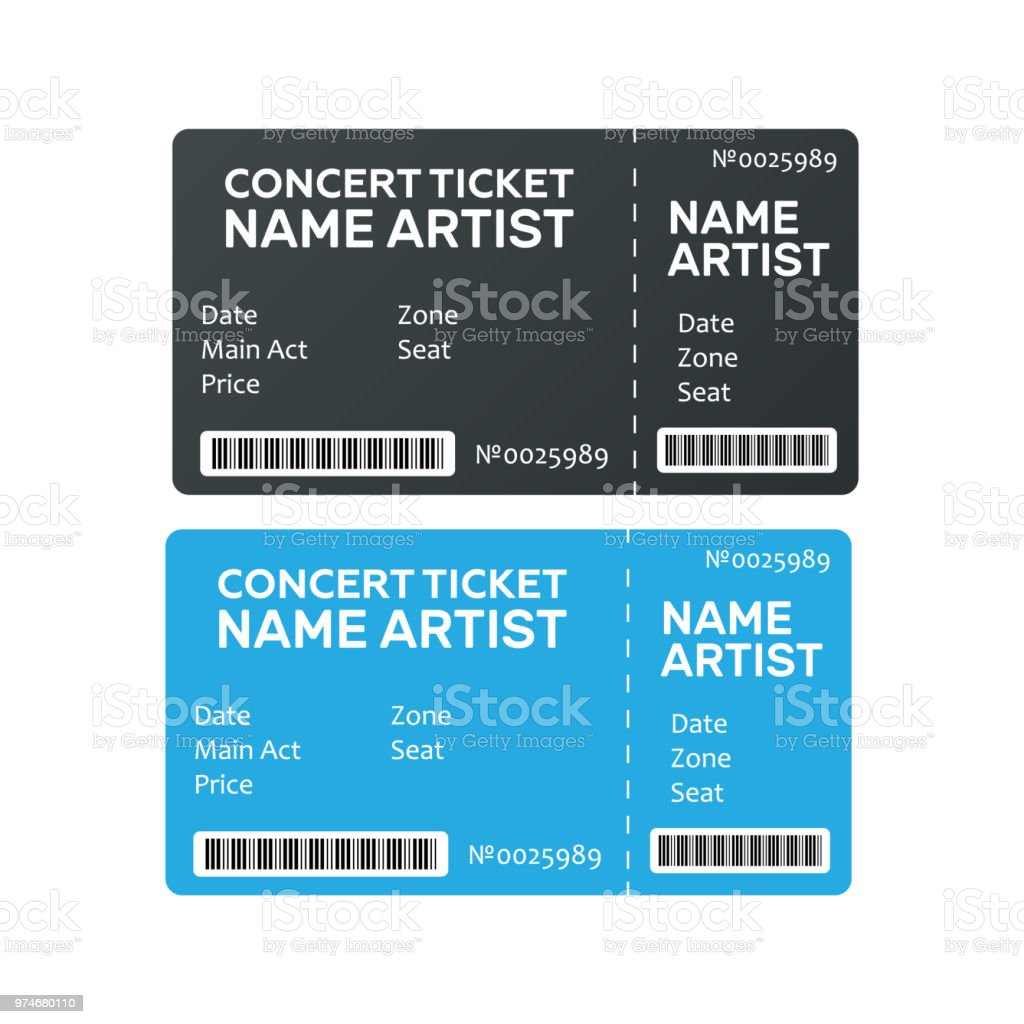 music dance live concert tickets templates ticket for event stock