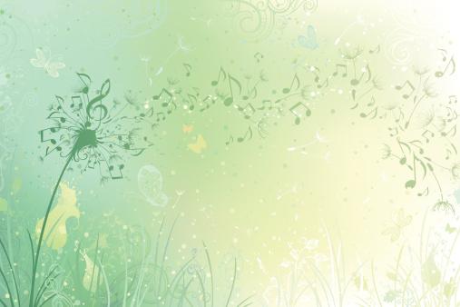 Music dandelion background