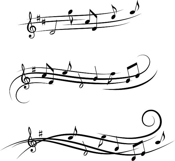 Music design elements 4 vector art illustration