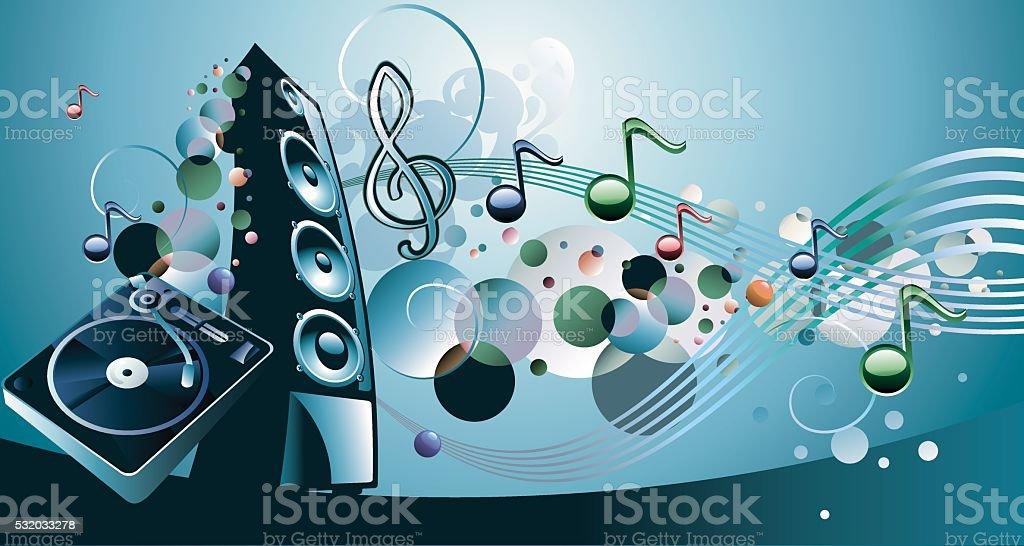 Music design vector art illustration