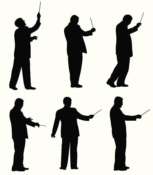 musicdirector - bandleader stock-grafiken, -clipart, -cartoons und -symbole