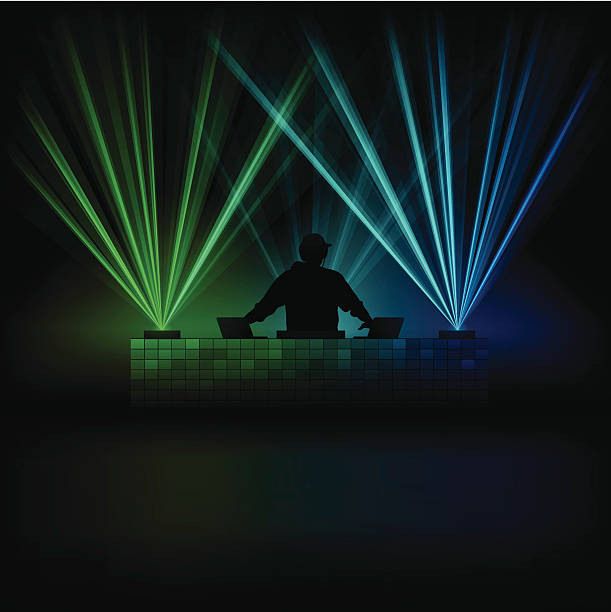 stockillustraties, clipart, cartoons en iconen met music dj - dj