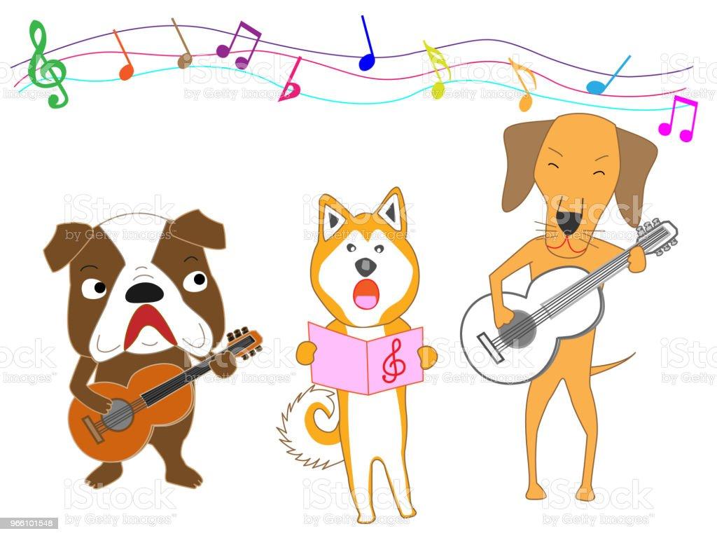 Musik-Hund - Lizenzfrei Blasinstrument Vektorgrafik