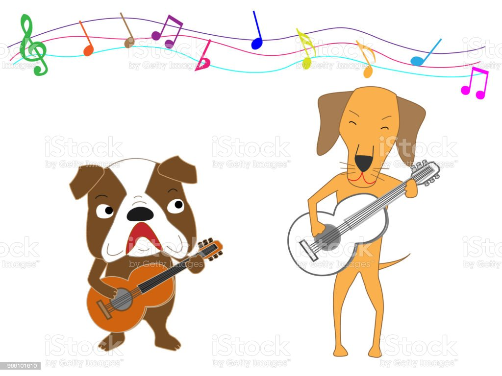 music dog - Royalty-free Animal arte vetorial
