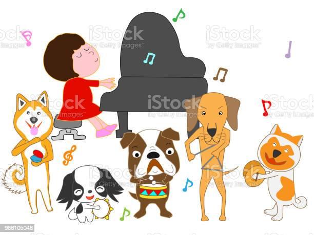 Musik Hund-vektorgrafik och fler bilder på Avkoppling
