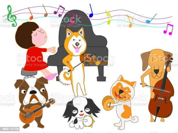 Music Dog Stock Illustration - Download Image Now