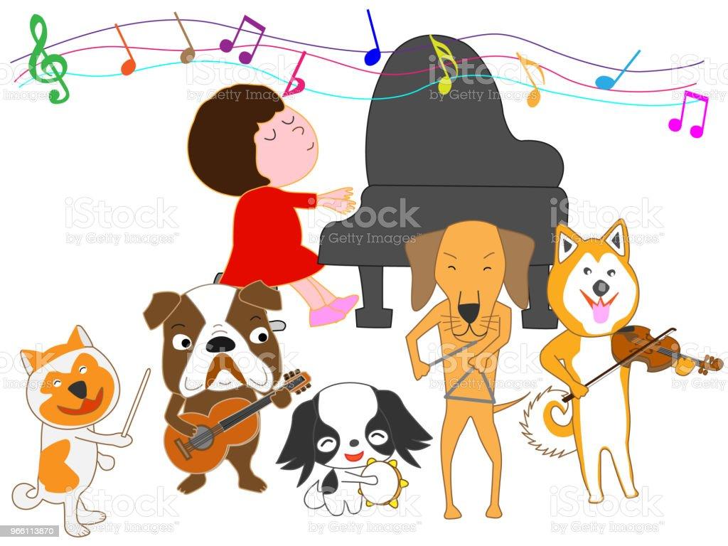 music dog - Векторная графика Барабан роялти-фри