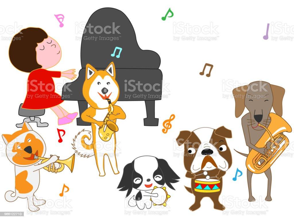 Música de perro - arte vectorial de Animal libre de derechos