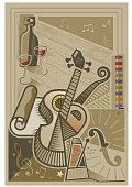 A semi abstract music illustration
