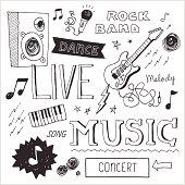 Music Doodles 2 — Vector Elements