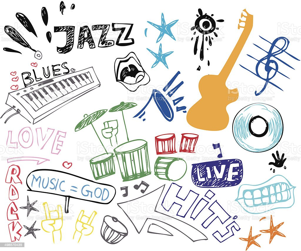 music doodles royalty-free music doodles stock vector art & more images of abstract