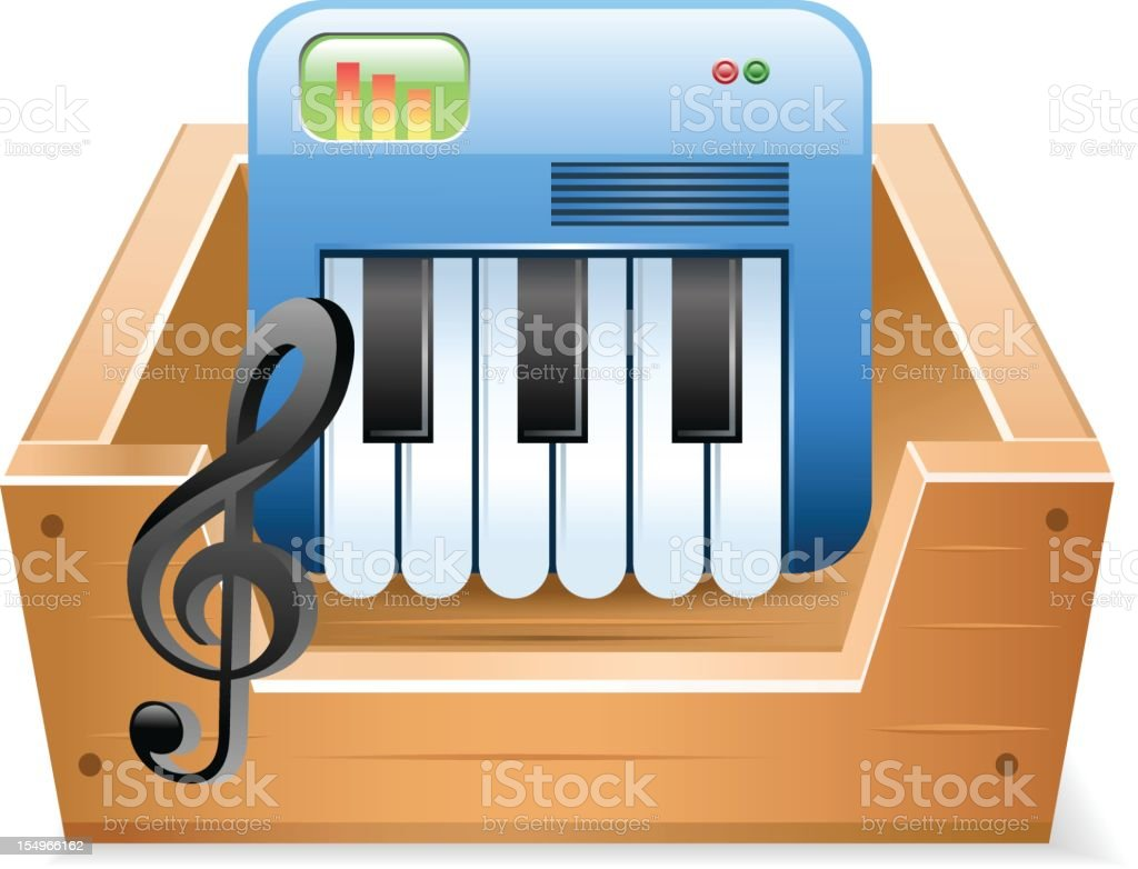 Music Download royalty-free music download stock vector art & more images of audio equipment