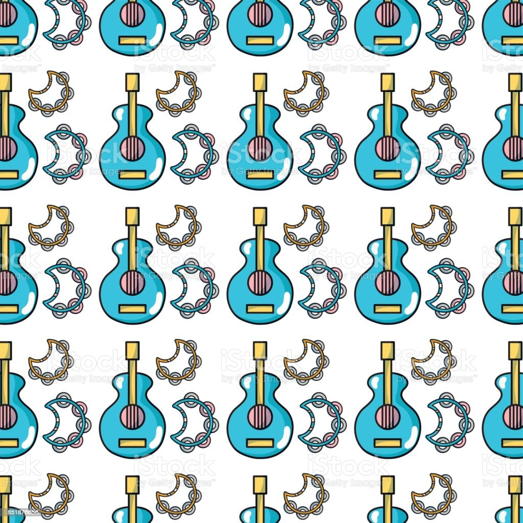 Music Elements To Play Melody Background Stock Illustration