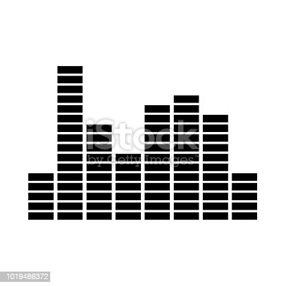 Music equalizer it is black icon . Flat style