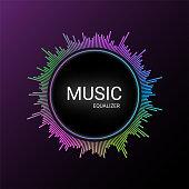 Colorful music equalizer, audio visualizer