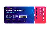 Music event concert ticket template. Ticket party design flyer pass ticket