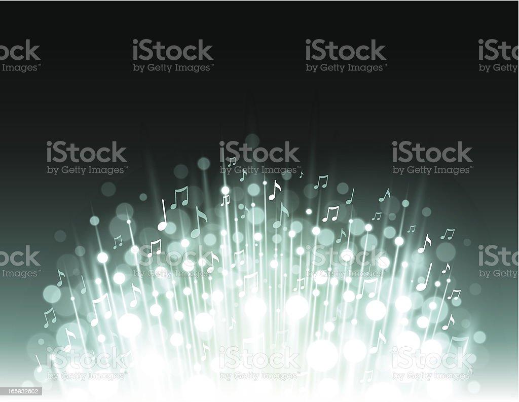 Music explosion background vector art illustration