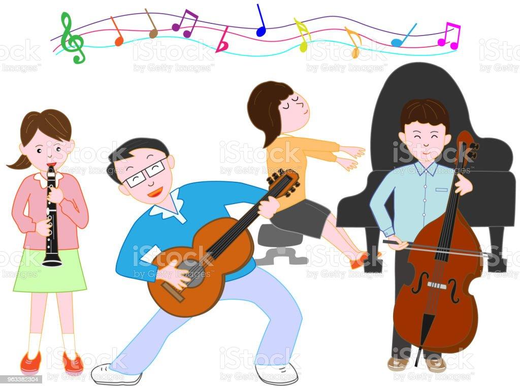 music family - Grafika wektorowa royalty-free (Akordeon - instrument)