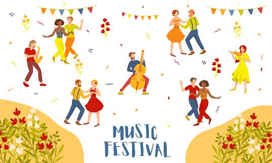 Music Festival advertising poster design