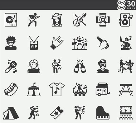 Music Festival ,Concert Festival ,Event Silhouette Icons