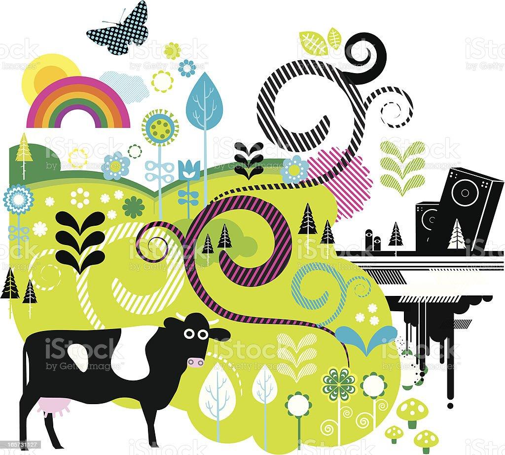 Music festival illustration royalty-free stock vector art