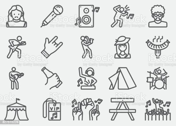 Music festival line icons vector id827515226?b=1&k=6&m=827515226&s=612x612&h=nlcgfcnwjbtvlz91dkbde2eorkkzefghszarulwqatq=