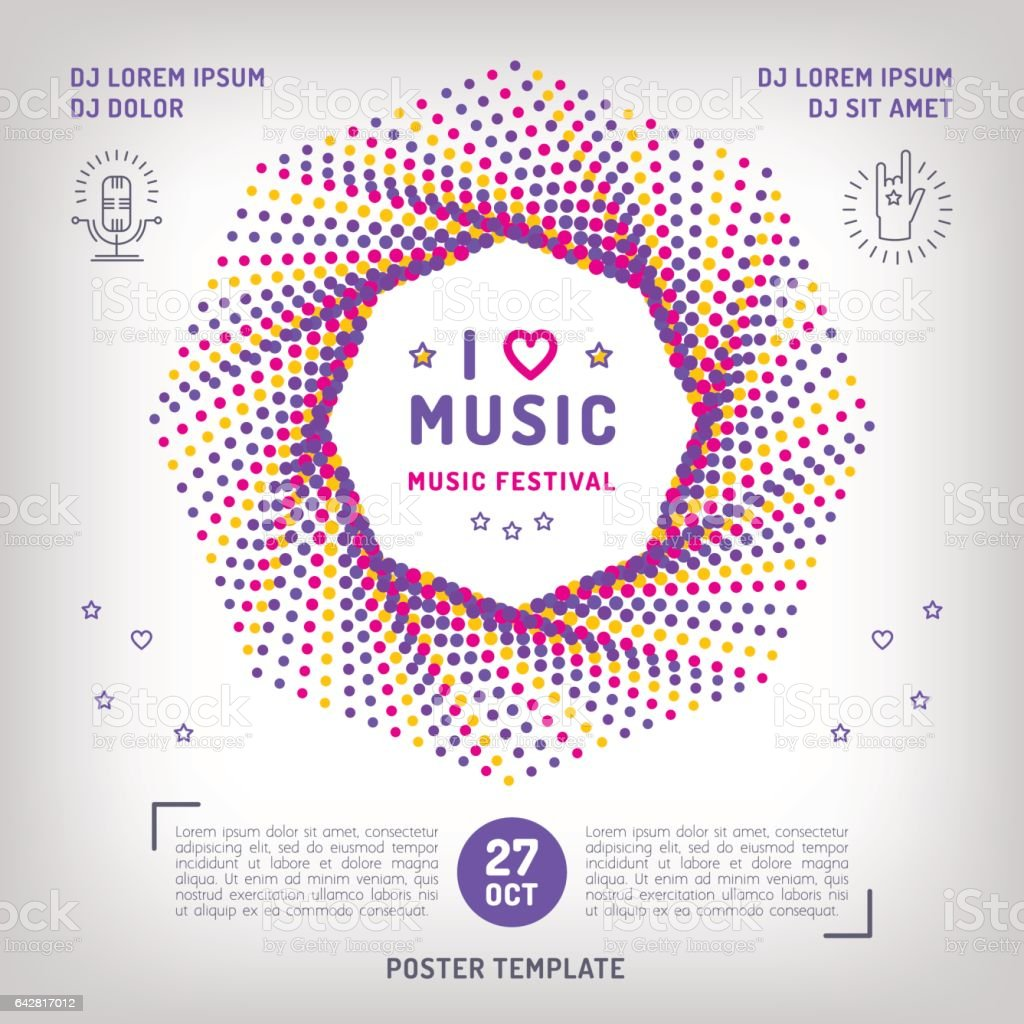Music Festival Party Invitation Arts Flyer Classic Electronic Or