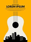 istock Music festival poster design template modern vintage retro style 1034663260