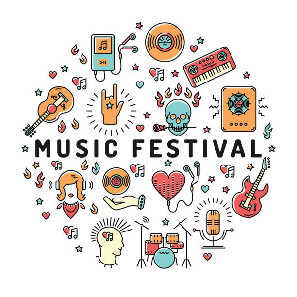 Royalty Free Summer Concert Clip Art, Vector Images ...