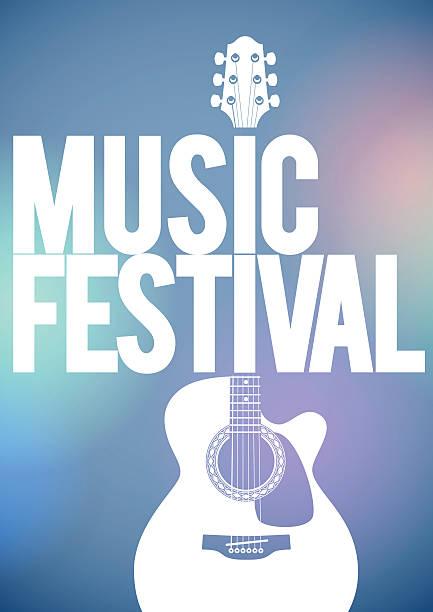 Affiche du Festival de musique de guitare acoustique. - Illustration vectorielle