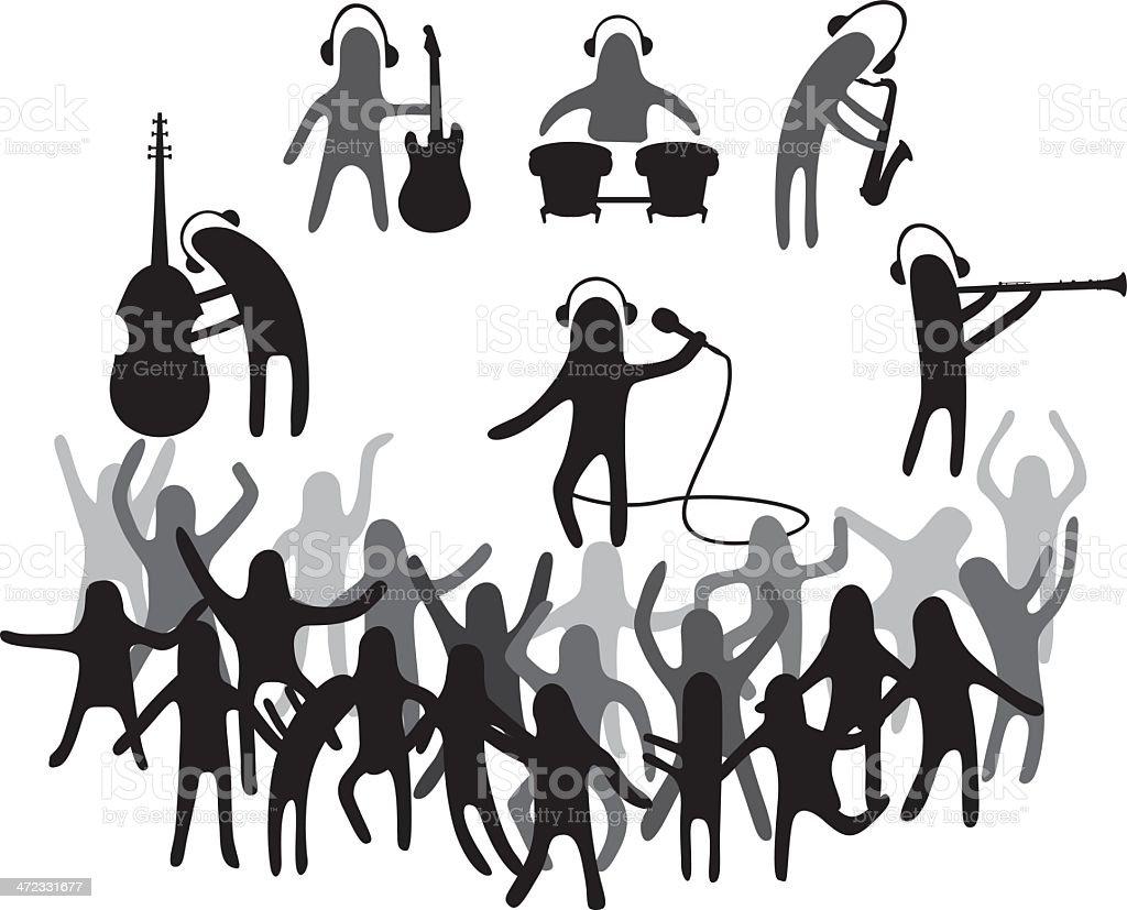 Music festival royalty-free stock vector art