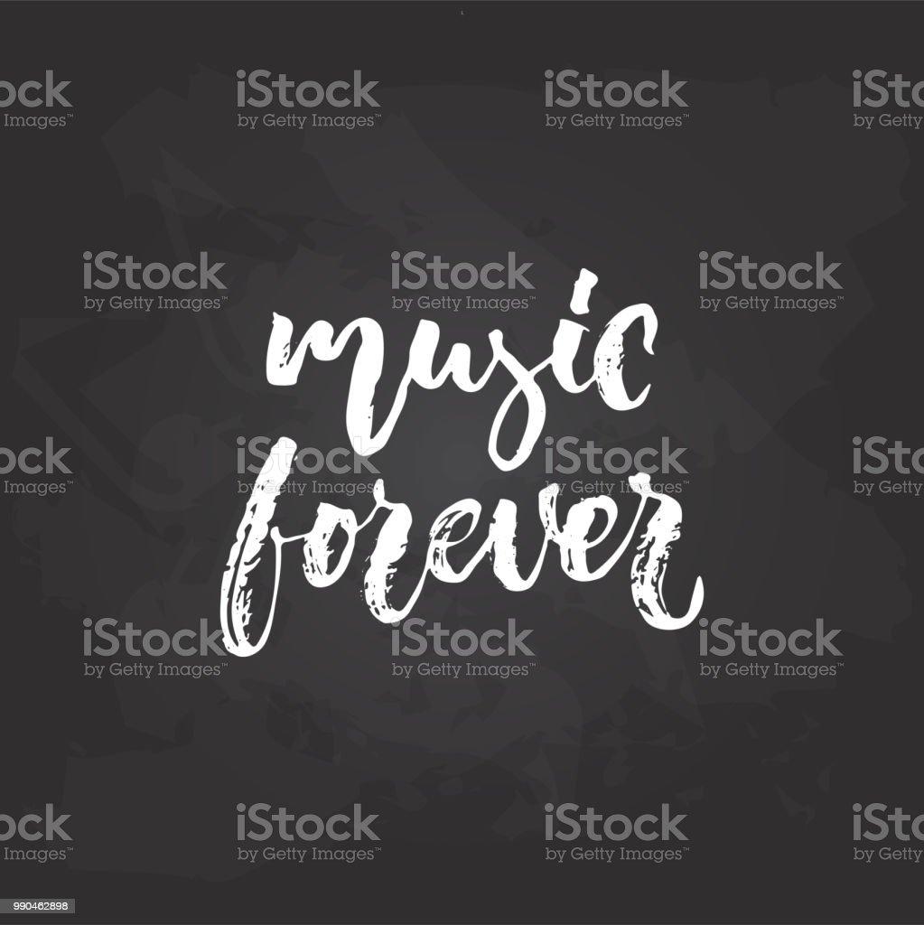 Ilustración De Música Para Siempre Parte Musical Dibujado