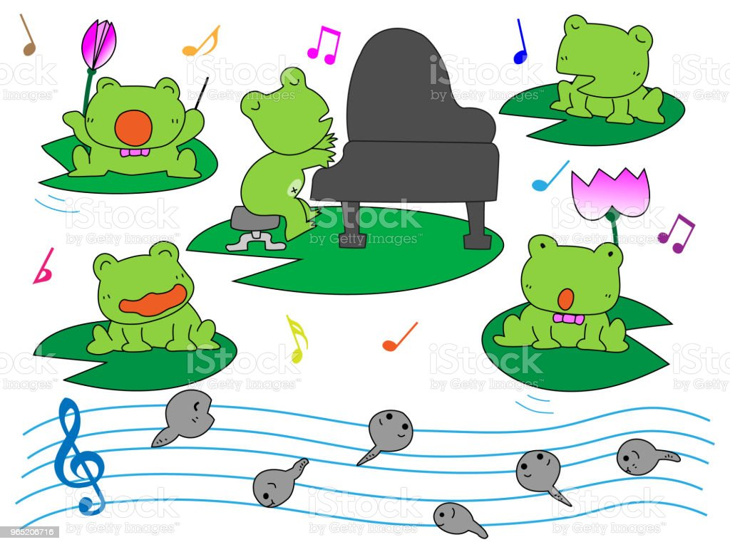 music frog royalty-free music frog stock vector art & more images of accordion - instrument