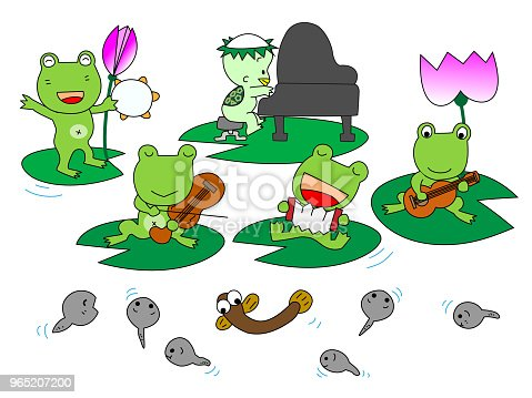 Music Frog Stock Vector Art & More Images of Accordion - Instrument 965207200
