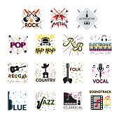 Music Genres Signs and Symbols