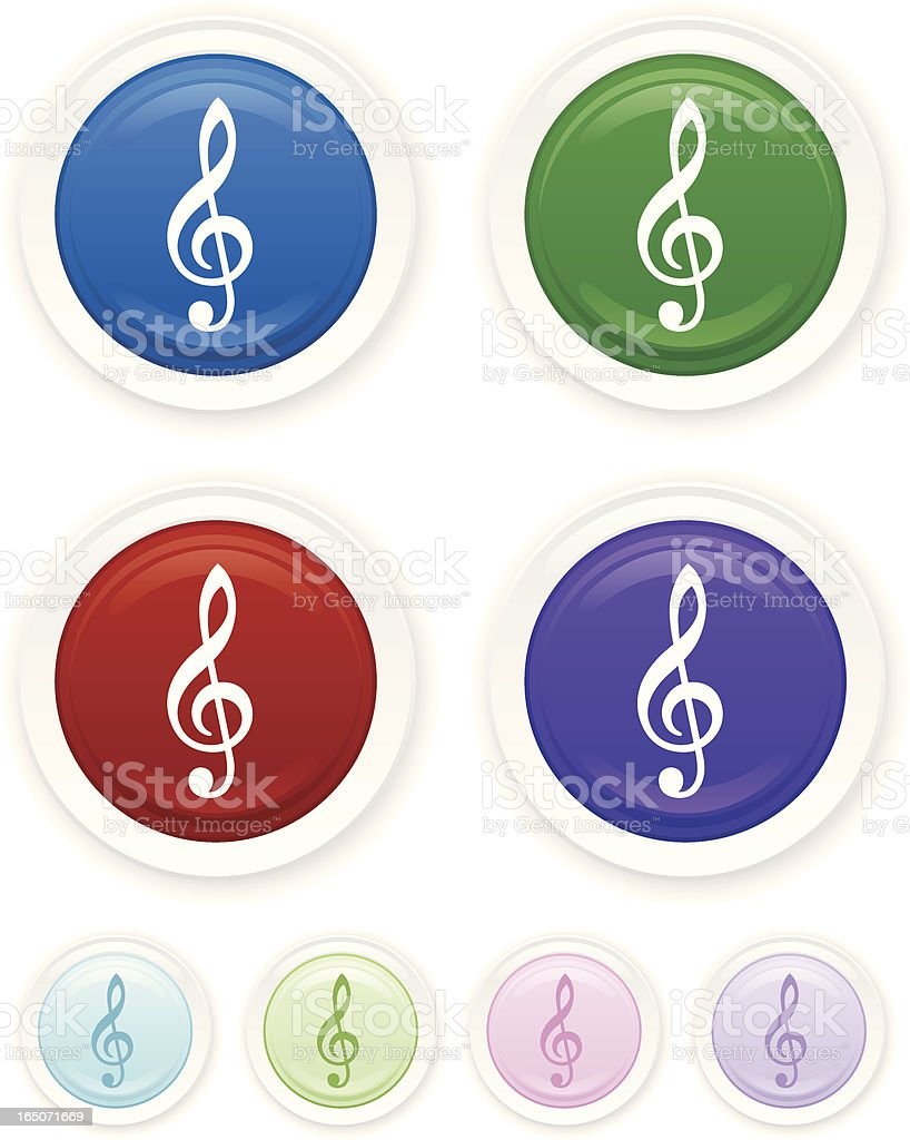 Music Glossy Icon royalty-free stock vector art