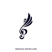 Music Goose Illustration Vector Template. Suitable for Creative Industry, Multimedia, entertainment, Educations, Shop, and any related business.
