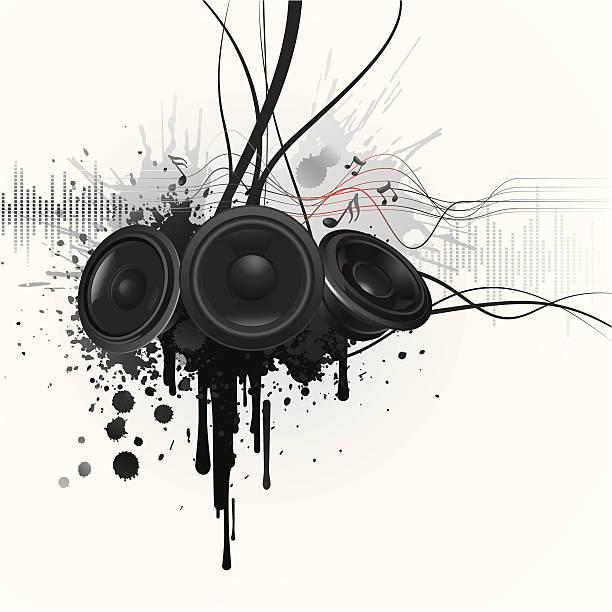 musik-graffiti - avantgarde stock-grafiken, -clipart, -cartoons und -symbole