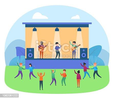 Music festival, concert. Poster for presentation, web page, banner, social media. Flat design vector illustration