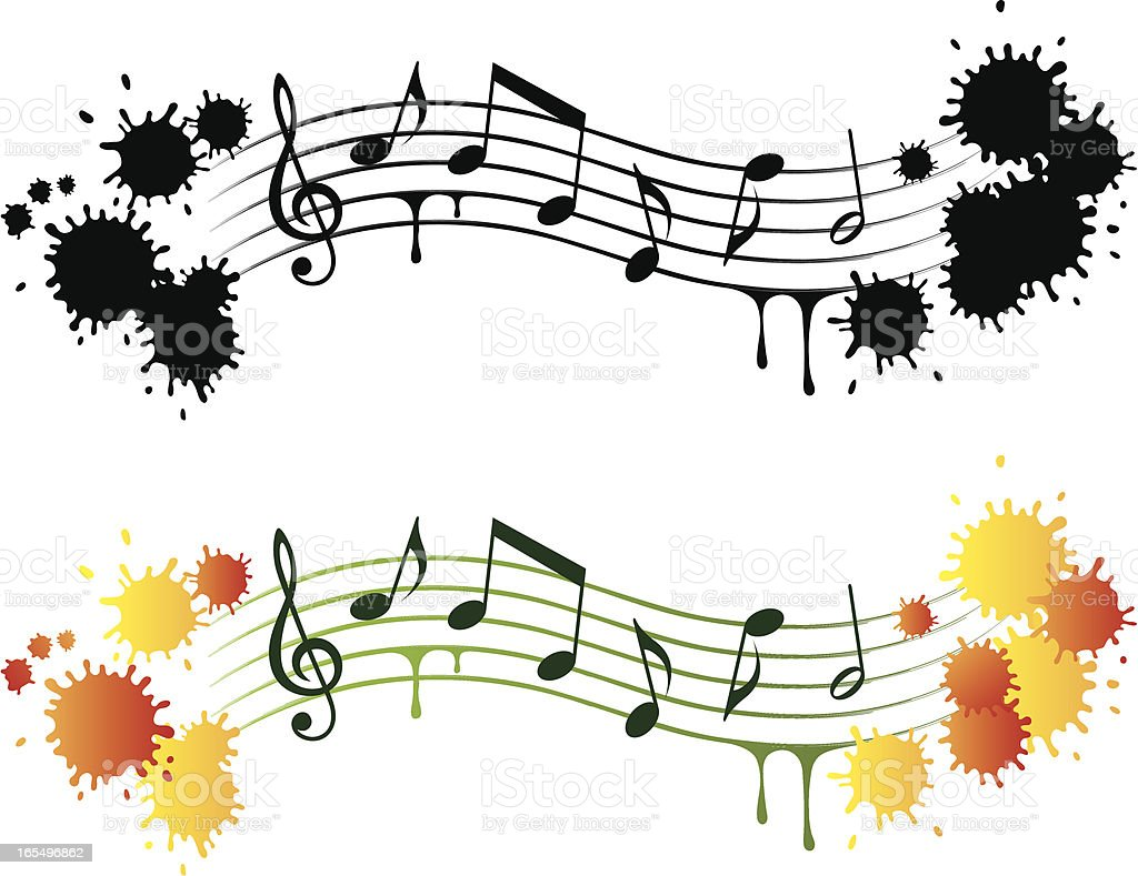 Music grunge design elements royalty-free stock vector art