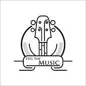 Music guitar logo
