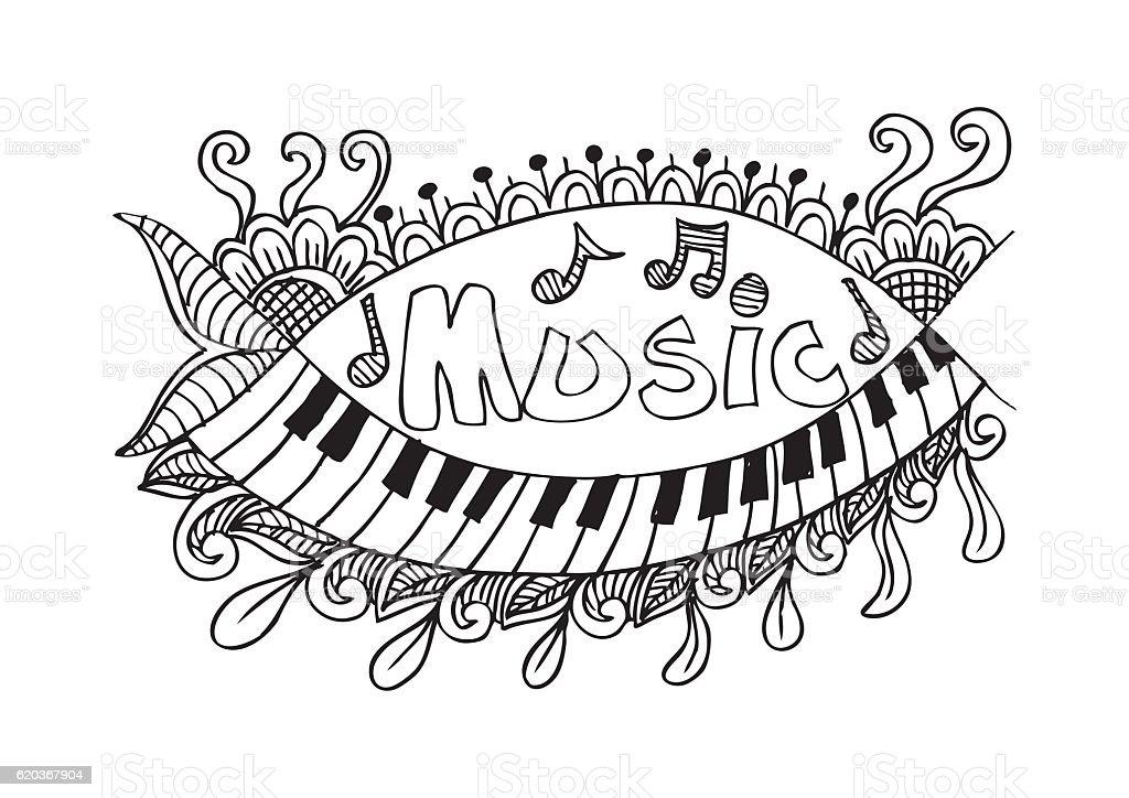 Muzyczne strony litery i Gryzmoły elementów muzyczne strony litery i gryzmoły elementów - stockowe grafiki wektorowe i więcej obrazów atrament royalty-free