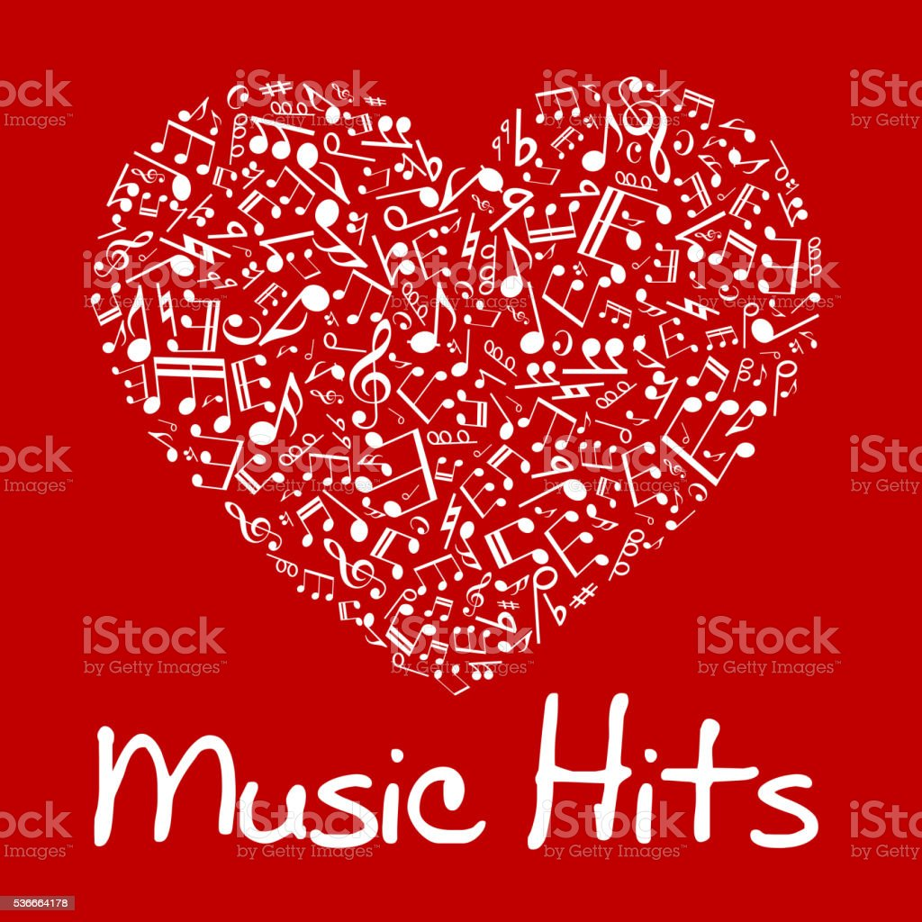 Music Heart With Notes And Musical Symbols Stock Vector Art More
