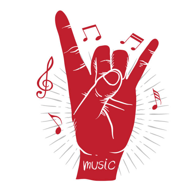 Download Silhouette Of The Rock And Roll Hands Illustrations ...