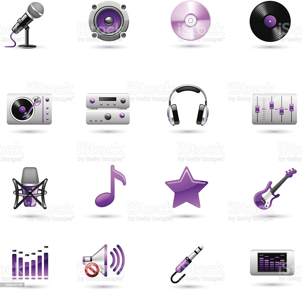 Music icon set royalty-free music icon set stock vector art & more images of amplifier