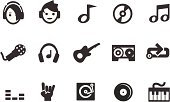 Music and Rock Icons.  Professional Vector Icons with High resolution jpeg and transparent PNG file.