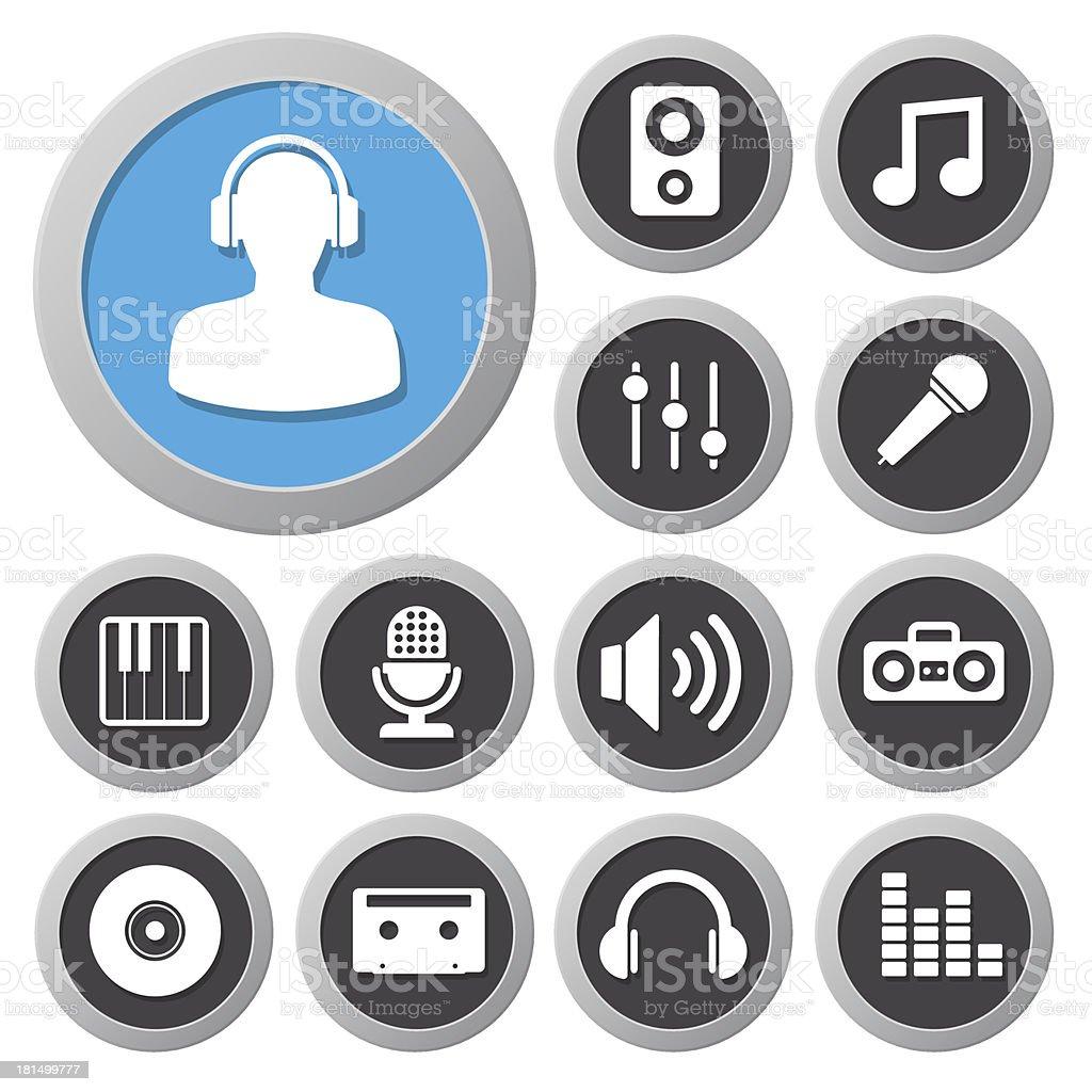 Music icon set royalty-free stock vector art
