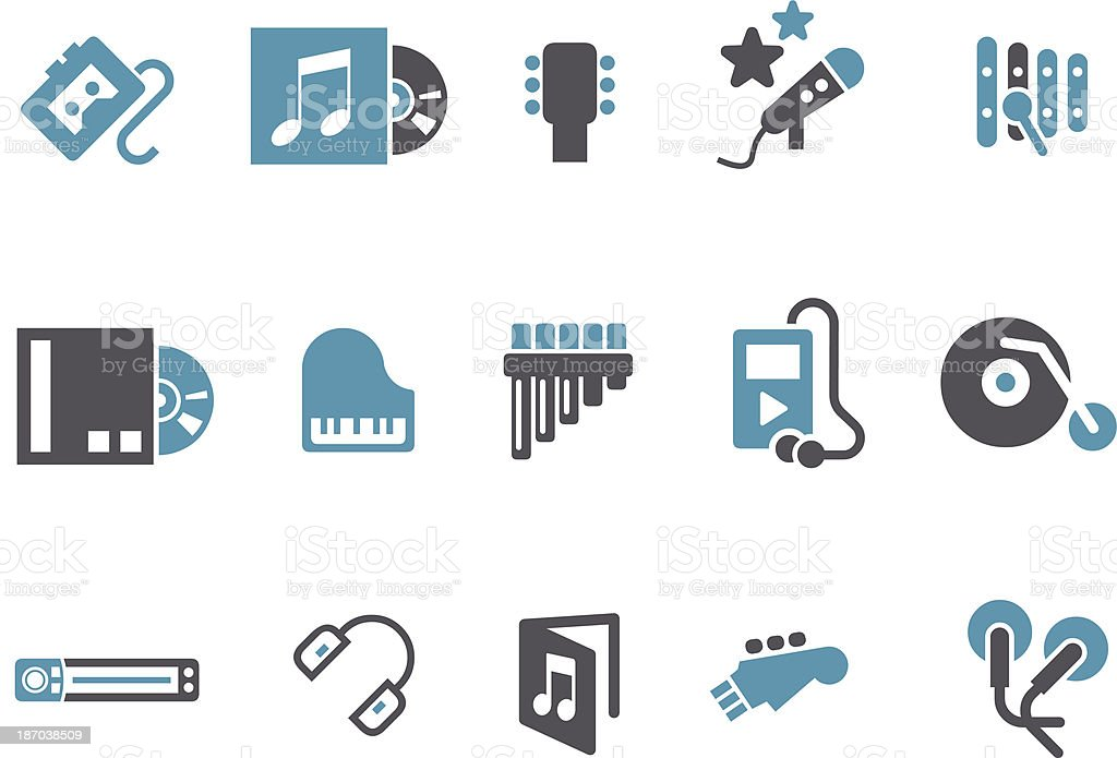 Music Icon Set royalty-free stock vector art
